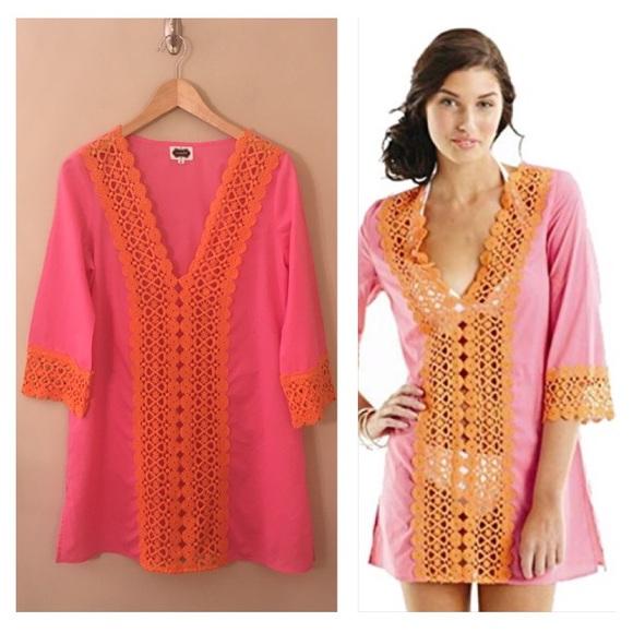 d9e070c1b4 Mud Pie NORA Crochet Tunic Bathing Suit Coverup S.  M_5b7223955a9d21352d1acbcd